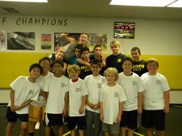 The campers pictured with the afternoon counselor crew.